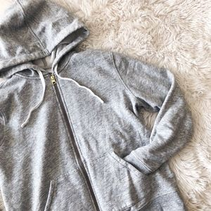 OLD NAVY light grey full zip hooded sweatshirt